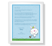Easter Bunny Greetings printable card
