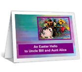 Easter Hello greeting card