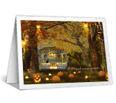 Enchanting Halloween greeting card