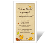 Fall Party Invitation printable card