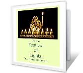 Festival of Lights printable card