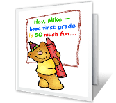 First Grade Is Fun! printable card