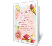 Floral Birthday Wishes printable card
