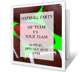 Football Party printable card