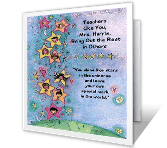 For a Caring Teacher greeting card