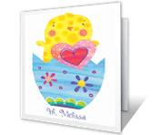 For a Cute Little Chick greeting card