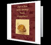 For a Dear Son greeting card