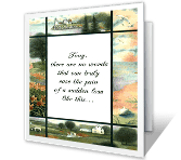 For a Sudden Loss greeting card