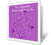 For Brother and Sister-in-law greeting card