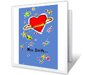 For Teacher printable card