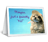 "Friendly ""Hi"" greeting card"