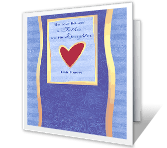 From Daughter, With Love printable card