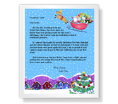 From Santa printable card