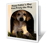 From the Dog printable card