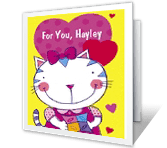 Fun Granddaughter greeting card
