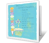 Gifted Grandson printable card