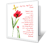 Glad You're My Sister printable card