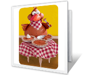 Gobble Time greeting card
