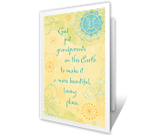God Made Grandparents printable card