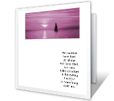 God Watches Over You greeting card