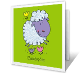 God's Little Lamb greeting card