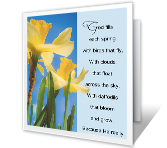 God's Love printable card