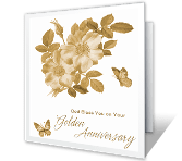 Golden Anniversary Blessing printable card