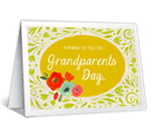 Grandparents Day Wishes printable card