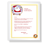 Greetings from Santa printable card
