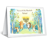 Hanukkah Animals printable card