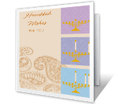 Hanukkah Wishes greeting card