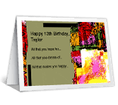 Happy 13th Birthday! printable card