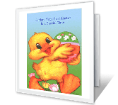 Happy First Easter! printable card