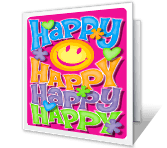 Happy Happy Happy greeting card