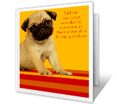 Hard To Say Goodbye! greeting card