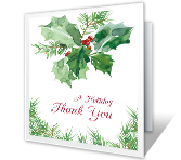 Holiday Gratitude printable card