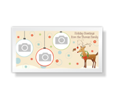 Holiday Greetings 4 x 8 photo card greeting card
