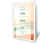 Hope, Peace, Joy greeting card