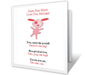 How Much I Love You printable card