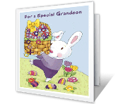 Hugs for Grandson printable card