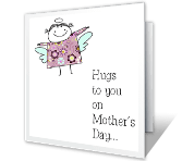 Hugs to You! printable card