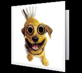 Hyper-happy greeting card