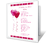 I Believe in Us greeting card