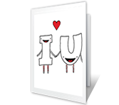 I Heart You printable card