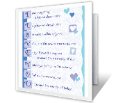 I Love You! printable card