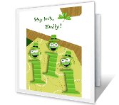 Irish I's greeting card