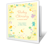 It's a Baby Shower printable card
