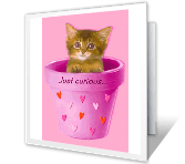 Just Curious... printable card