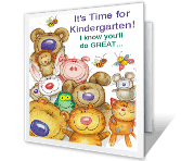 Kindergarten Greatness greeting card