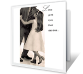 Love for Dad greeting card